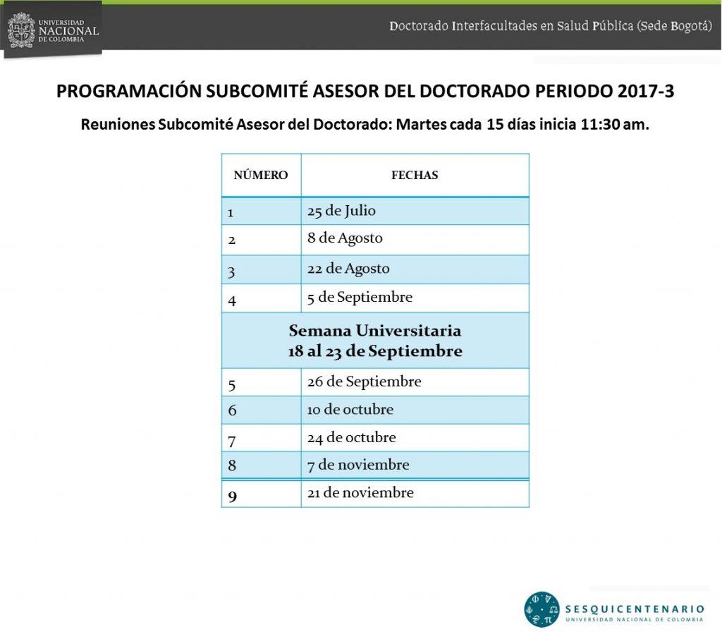 Reuniones Subcomité Asesor del Doctorado_III-2017
