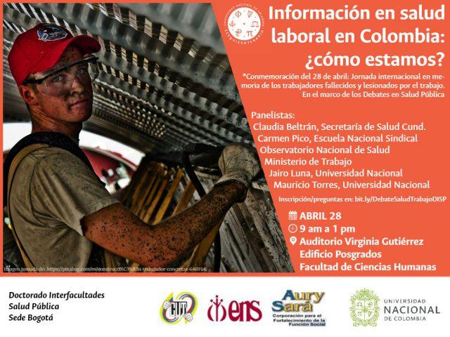 PRÓXIMO DEBATE DEL DOCTORADO:  Información en salud laboral en Colombia: ¿cómo estamos?