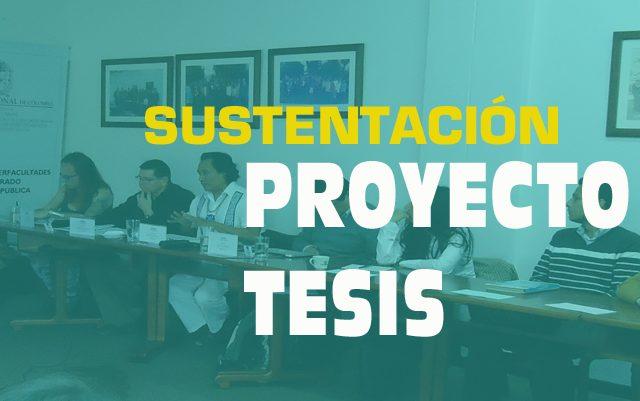 Sustentación proyecto de tesis: Guillermo Andrés Bastidas Beltrán