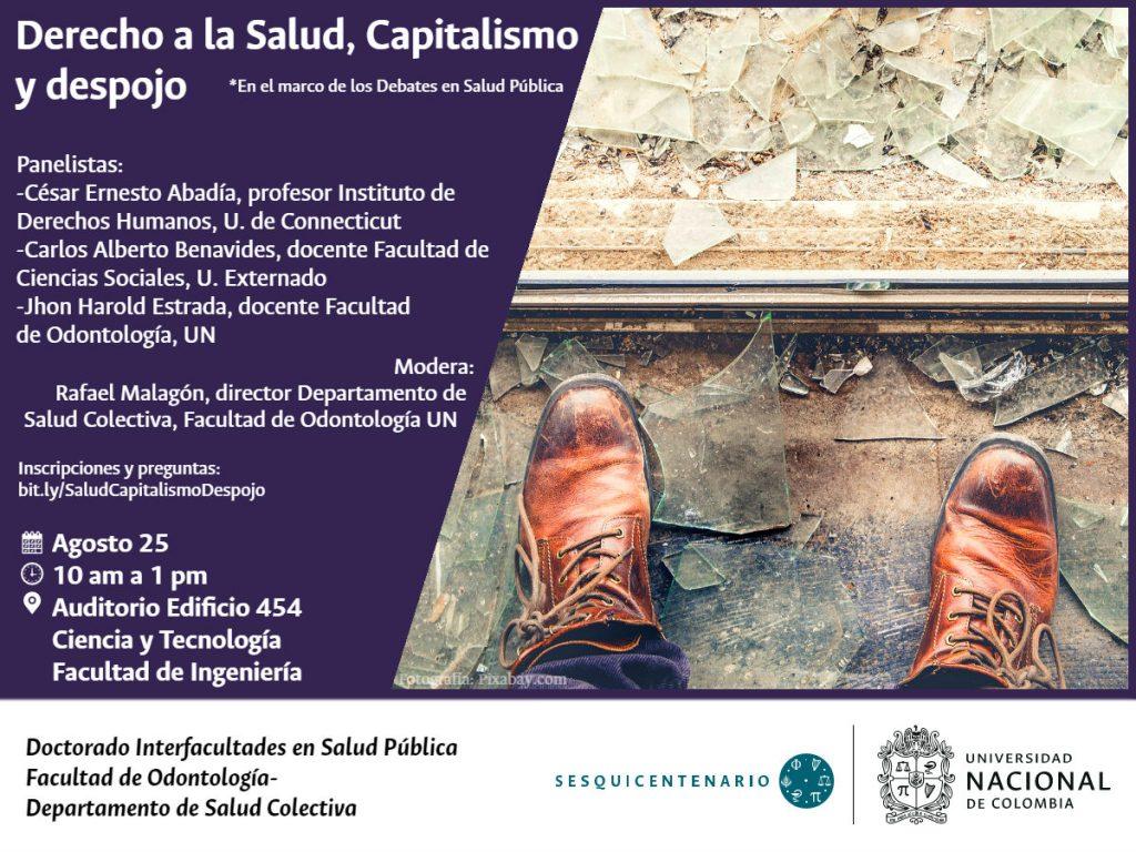 Invitación Debate Salud Capitalismo Despojo