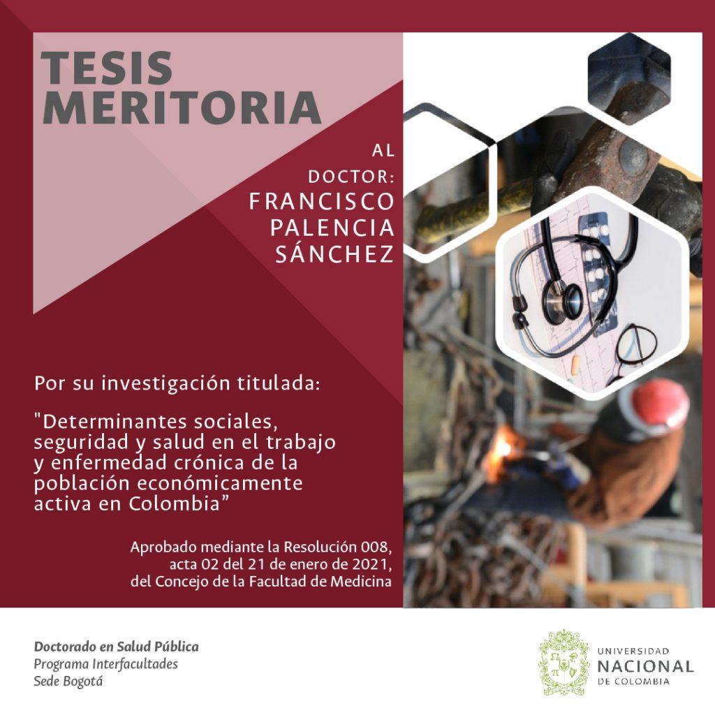 TESIS MERITORIA DOCTOR FRANCISCO PALENCIA SÁNCHEZ